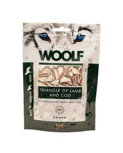 Hundegodbid Woolf lam/torsk sandwich, 100g