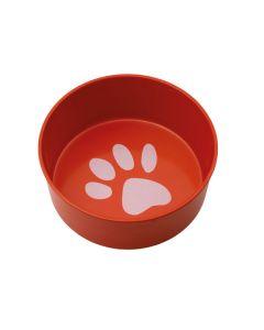 Mad- og vandskål i melamin til hund-Rød-M