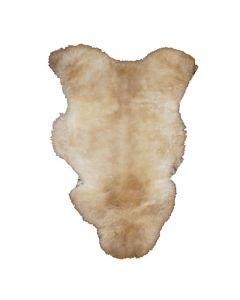 Ægte lammeskind til hundekurven-Broget-M