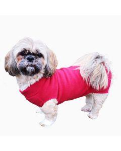 Hundedækken i blød fleece, rød