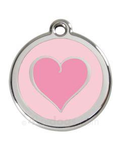 Kattetegn med pink hjerte