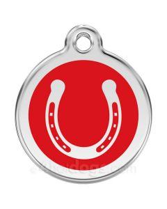 Hestesko medium-Rød