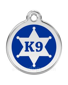 Hundetegn  K9 stjerne medium