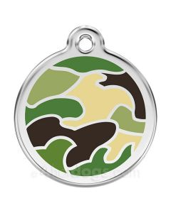 Hundetegn Camouflage small grøn