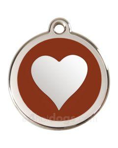 Hjerte Medium-Brun