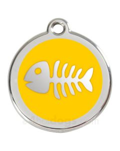 Fiskeben medium-Gul