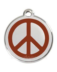 Peacetegn medium-Brun