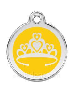 Prinsessekrone medium-Gul