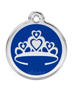 Prinsessekrone medium-Blå