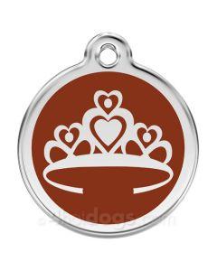 Prinsessekrone medium-Brun