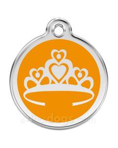 Prinsessekrone medium-Orange