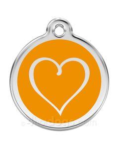 Tribal Hjerte medium-Orange