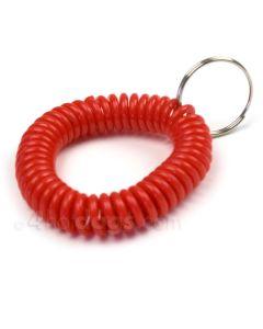 Spiralarmbånd til klikker, nøgle m.m.-Rød