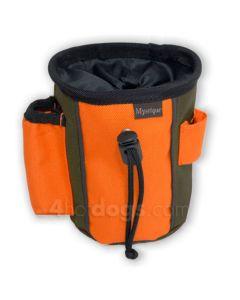 2-farvet Godbidstaske - bæres på 3 måder-Khaki/orange-S
