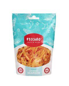 Ficcaro kylling seafood hundegodbidder, 100g