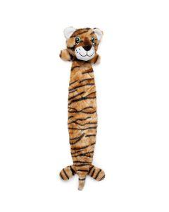 Hundelegetøj flad ruskeplys-Tiger