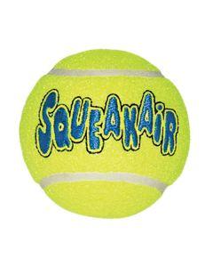 Slidstærk KONG tennisbold med piv. Velegnet til alle hunde.