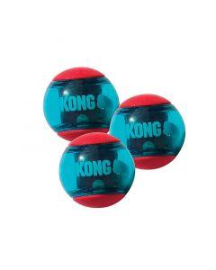 KONG Squeez Action Ball er en sjov og anderledes bold, som fastholder din hunds interesse i længere tid end en ordinær bold.