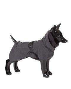 Reflekterende hunderegnjakke sort