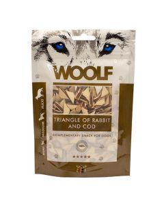 Hundegodbid Woolf kanin/torsk trekant, 100g